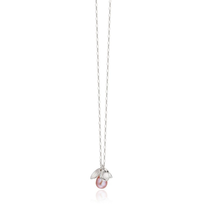 Pink Pearl and Silver Pendant