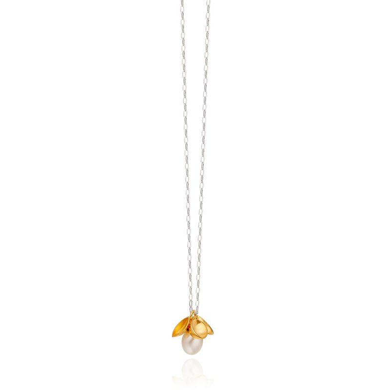 White Pearl and Gold Pendant