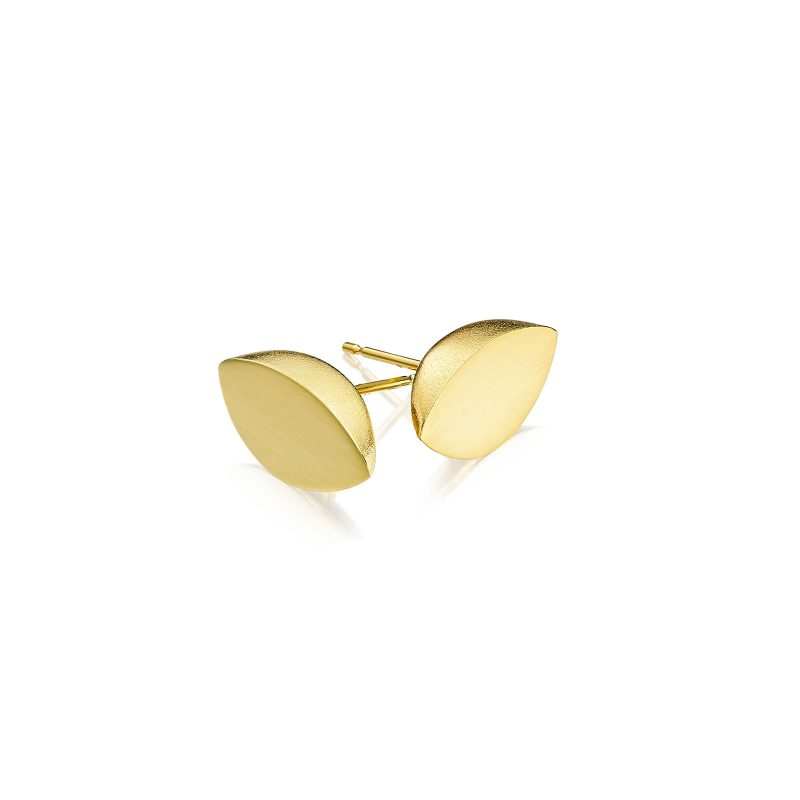 Double Leaf Studs Gold 02