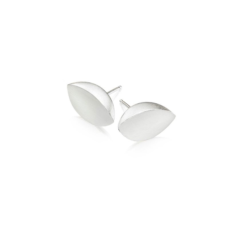 Leaf Studs Earrings Silver 02