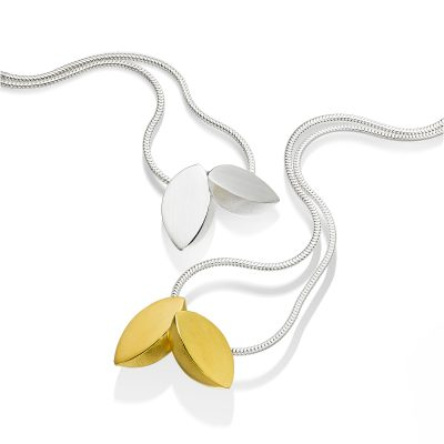 Double Leaf Silver and Gold Pendant Group P01 P02