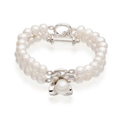 White Pearl Bracelet B02