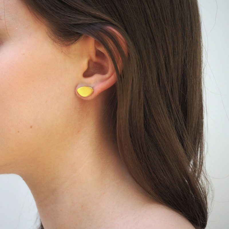 Leaf Gold Earrings Model E02