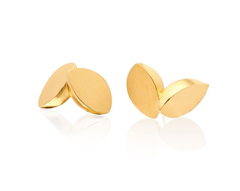 Double Leaf Stud Earrings E03
