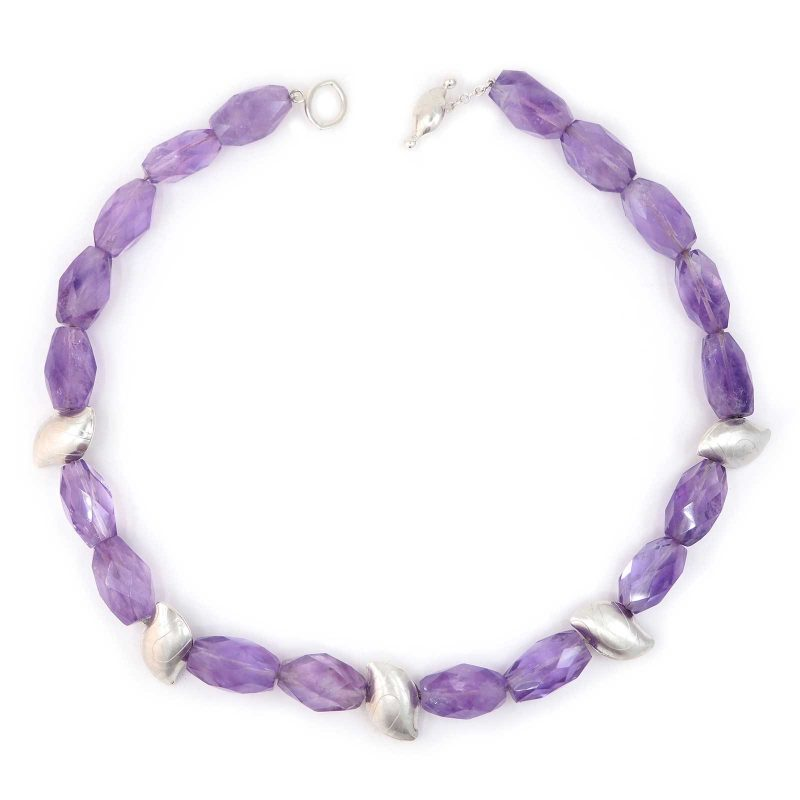 Amethyst Pebble Necklace N02