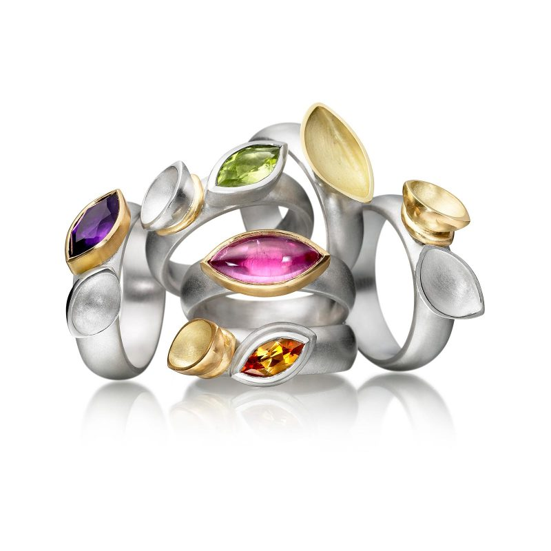 Oyster Gemset Rings