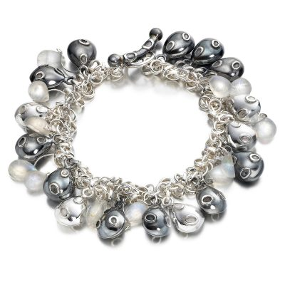 Moonstone Pebble Bracelet B08