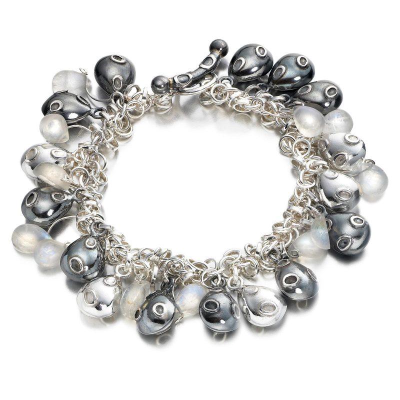 Moonstone Pebble Bracelet B08