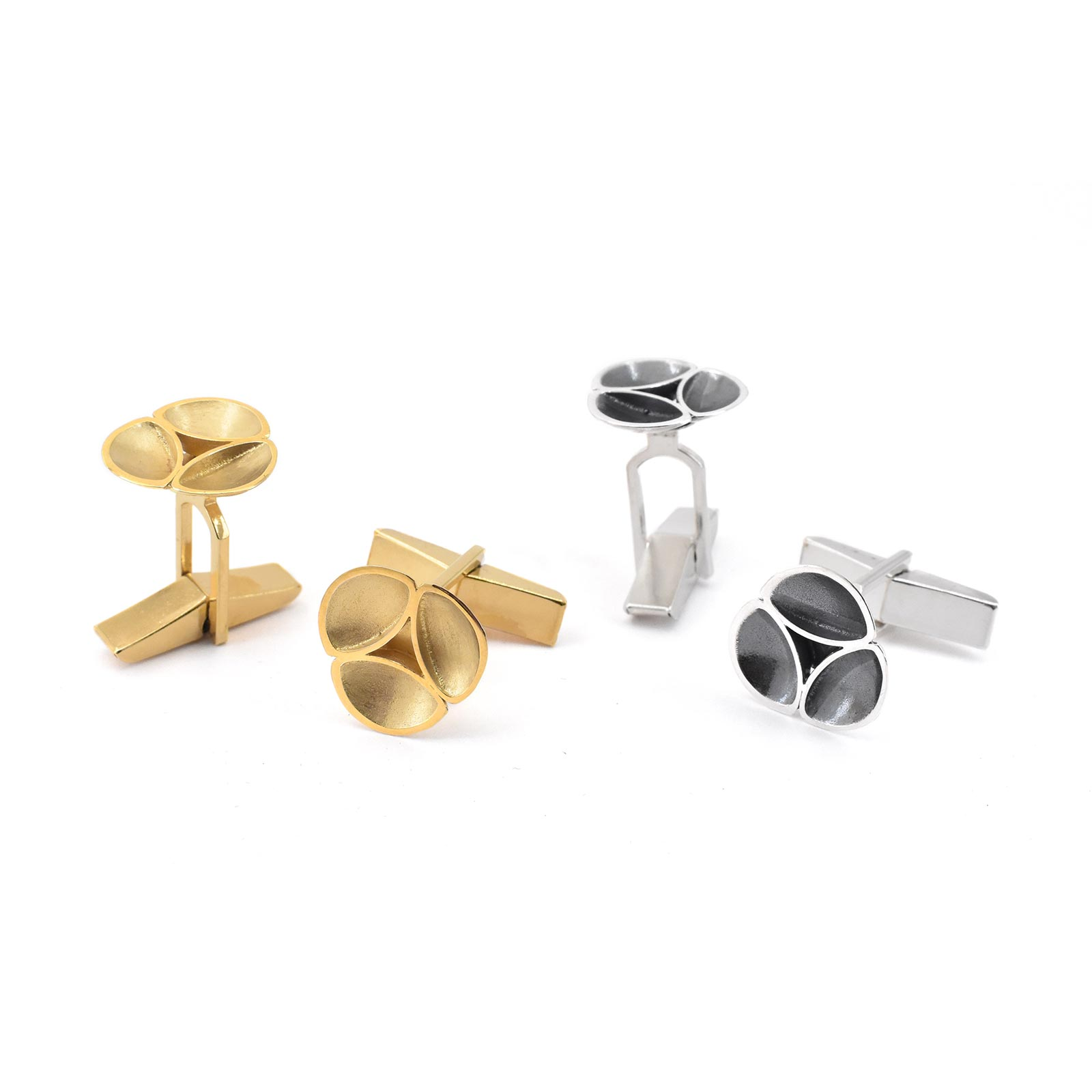 Oyster Gold and Silver Cufflinks Group C09 C10