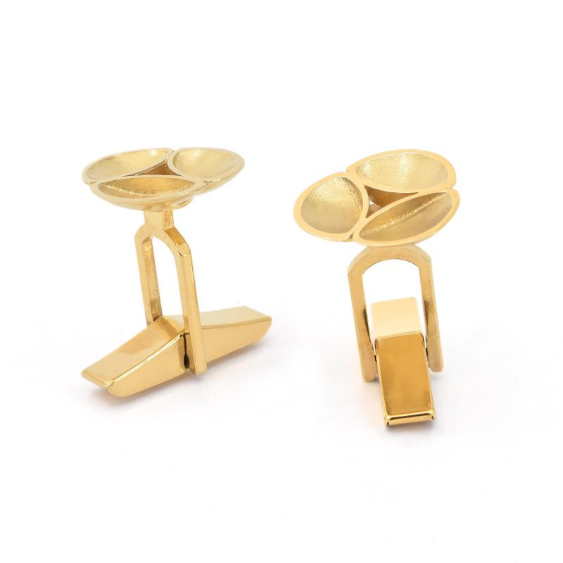 Oyster Gold Cufflinks C10