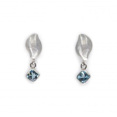 Gem Set Pebble Earrings