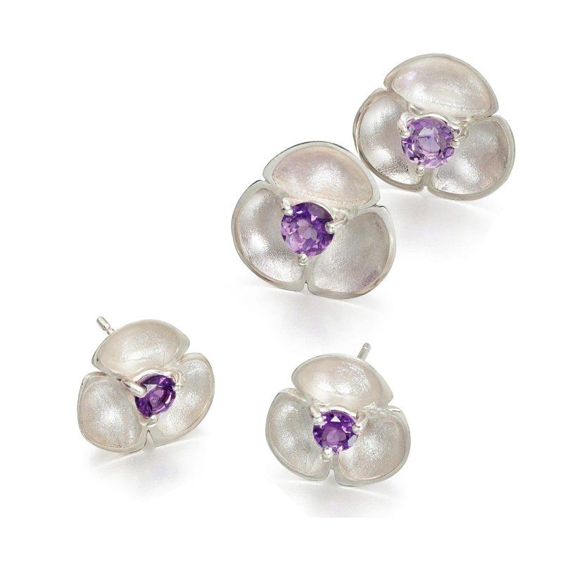 Amethyst Stud Earrings E52
