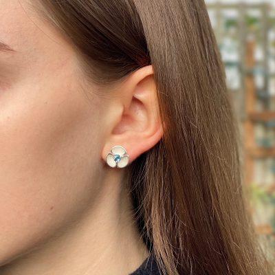 Oyster Gem Set Earrings