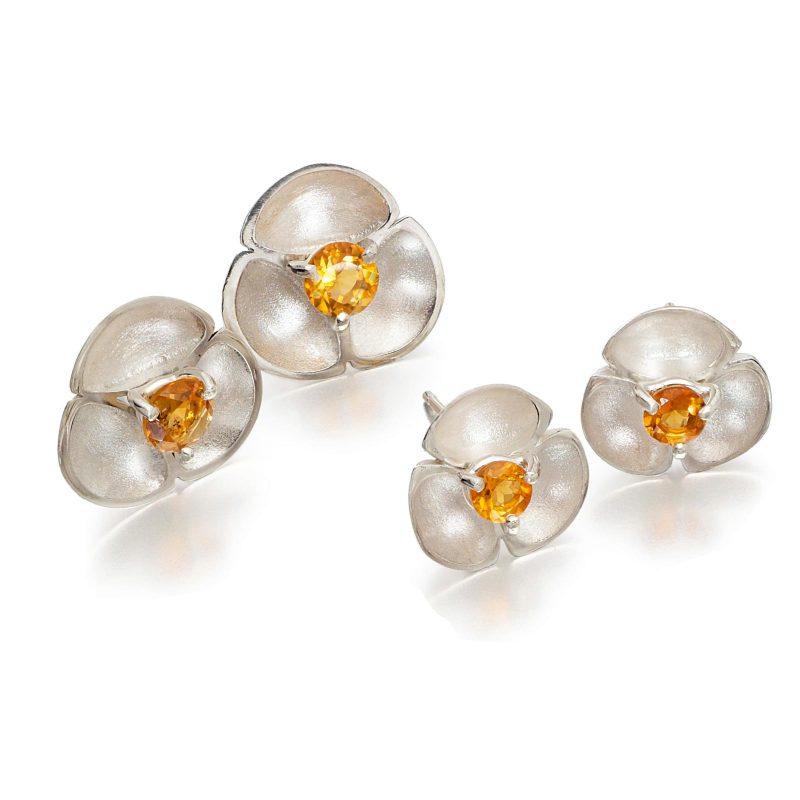 Citrine Stud Earrings E55