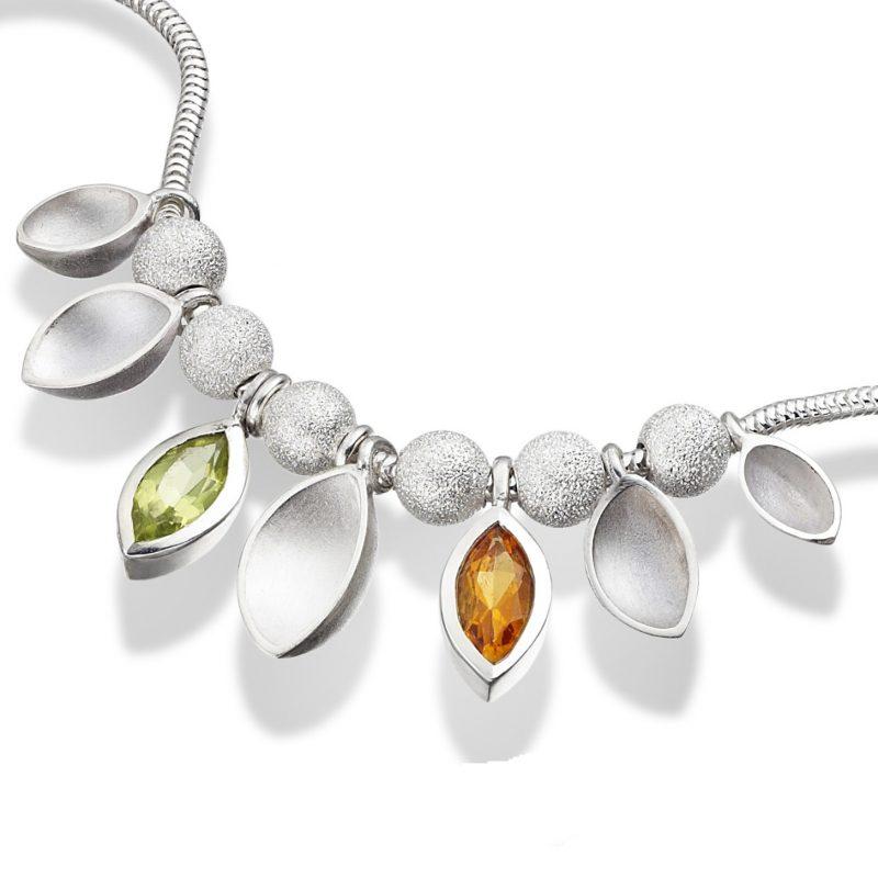 Gem Set Oyster Necklace