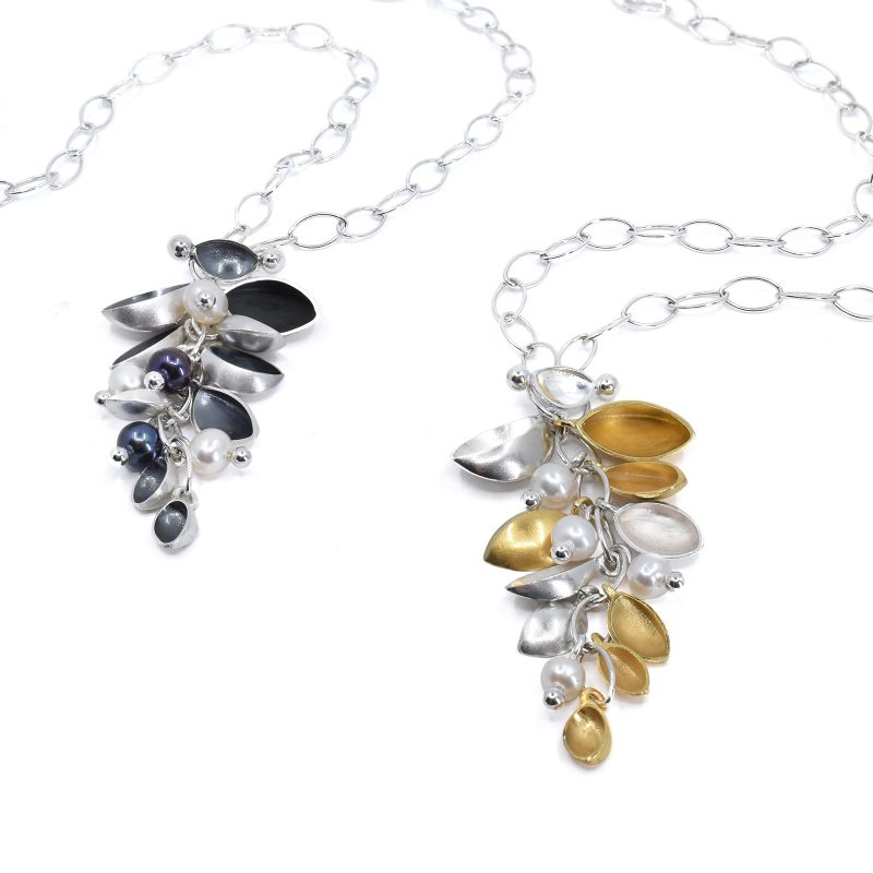 Oyster Cluster Necklace