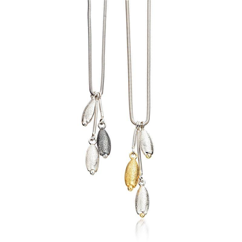 Triple Pebble Cluster pendant