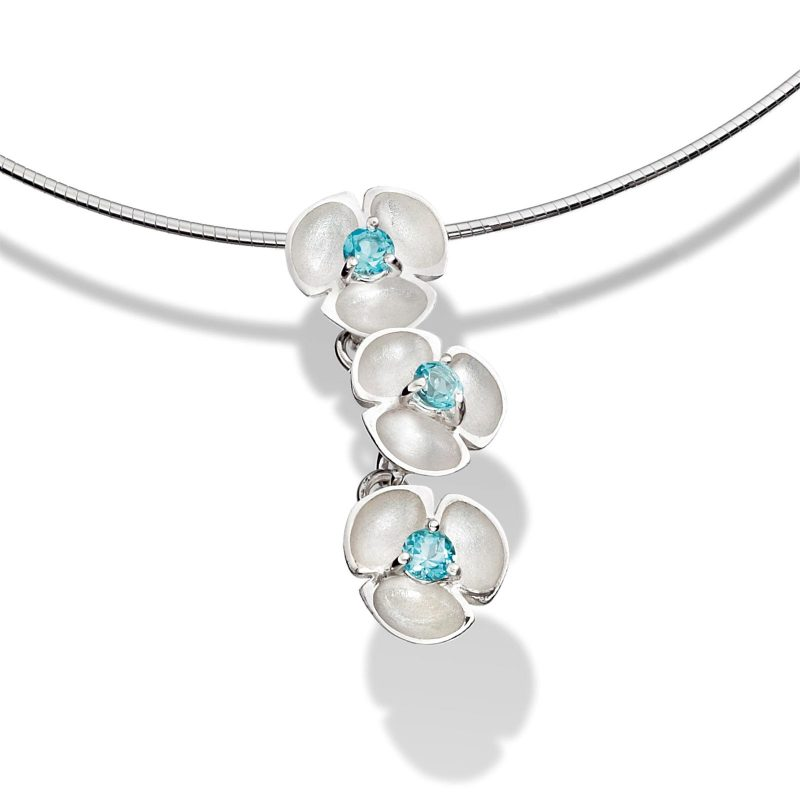 Topaz Oyster Cable Pendant P41