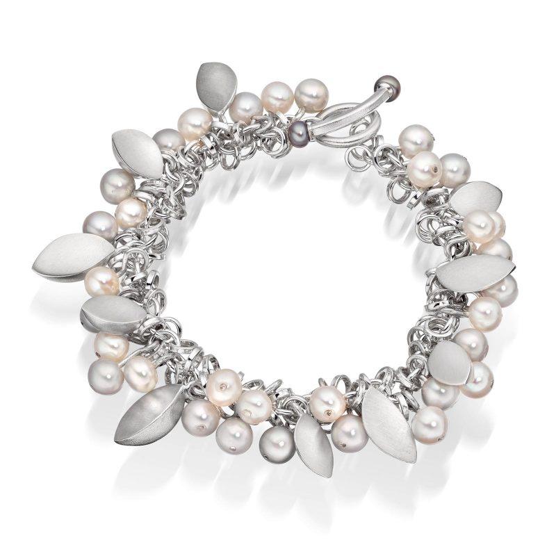 Pearl Leaf Bracelet B09