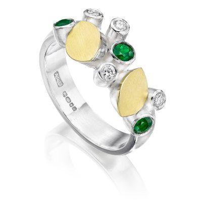 Emerald and Diamond Ring R02