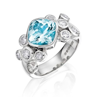 Topaz and Diamond Ring R03