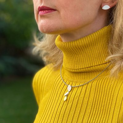 Triple Shape Gold and Silver Pendant