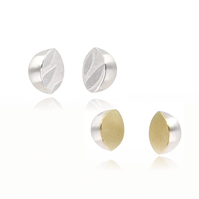Gold and Silver textured studs