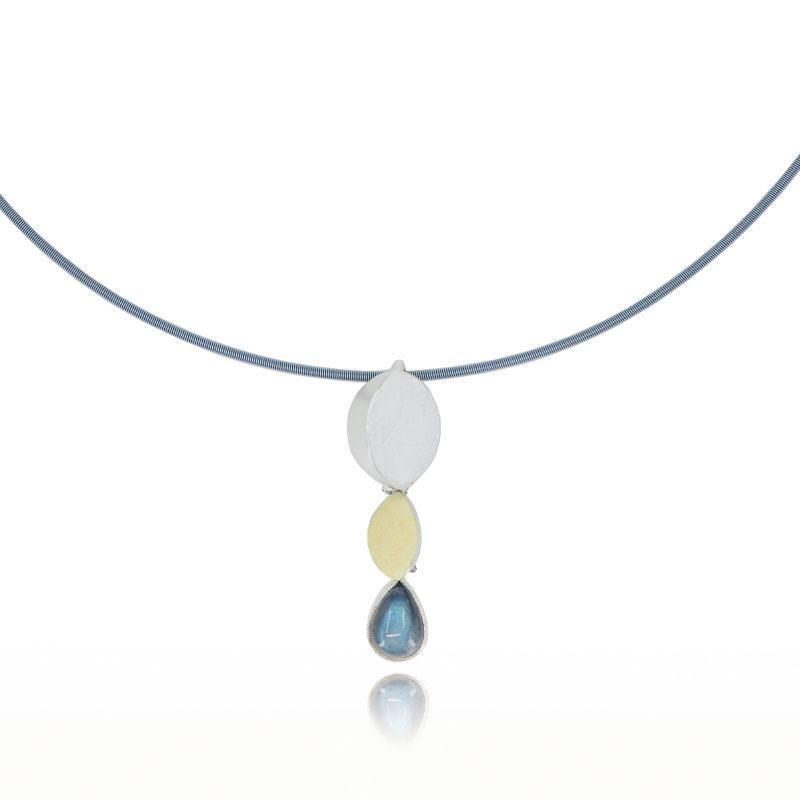 Labradorite Triple Pendant Necklace designed by Annie at Artgems